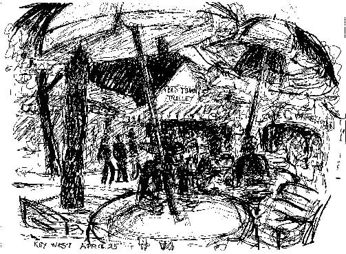 Geneva's sketch of Key West 1995
